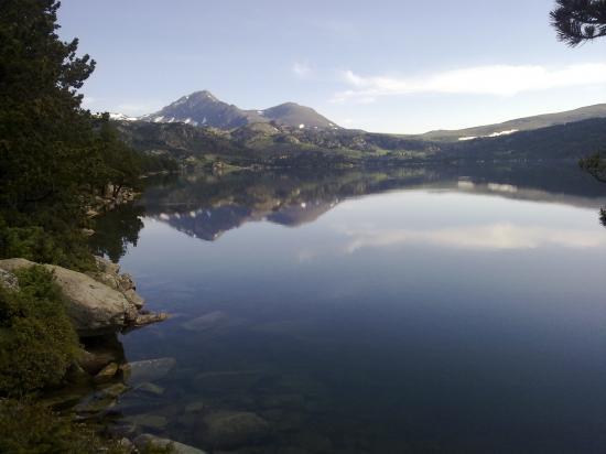 Lac des Bouillouses au réveil